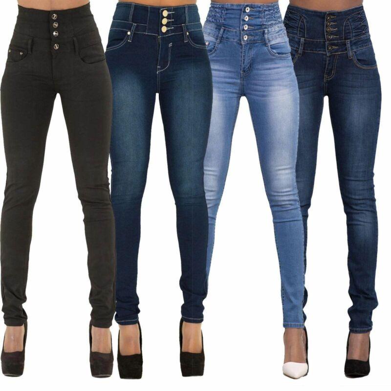 Goocheer Nueva Llegada Venta Al Por Mayor Pantalones De Mezclilla Para Mujer Pantalones Vaqueros Elasticos De Marca Superior Pantalones De Cintura Alta Para Mujer Jeans De Cintura Alta Omeda Tienda