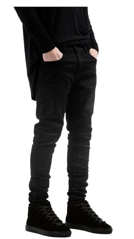 Moda 2020 Pantalones Vaqueros De Estilo Informal Vintage De Color Negro Ajustados Rotos Para Hombre Hip Hop Pantalones De Mezclilla Omeda Tienda De Ropa