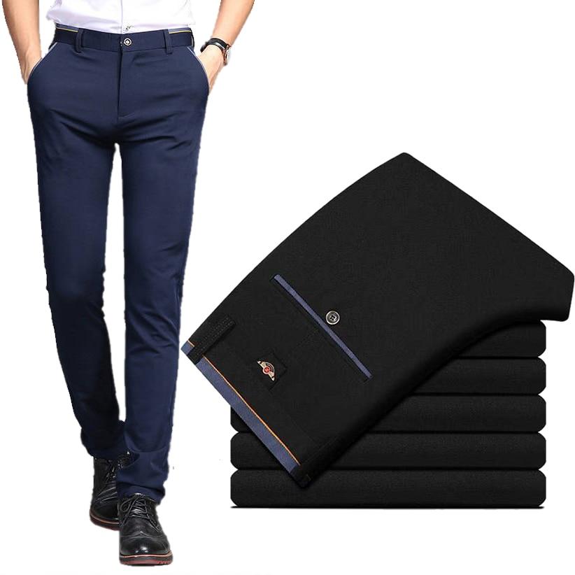 Pantalones De Traje Para Hombre Pantalones De Vestir Para Primavera Y Verano Para Hombre Pantalones Clasicos Elasticos De Negocios Y Oficina Resistentes A Las Arrugas De Talla Grande Para Hombre Omeda