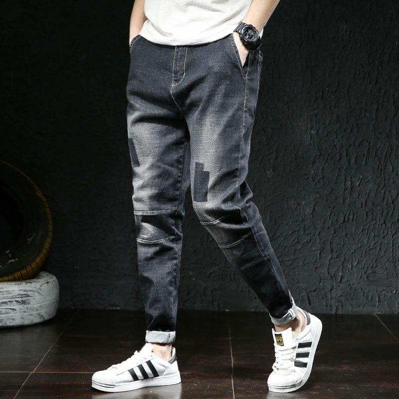 Pantalones Vaqueros Elasticos Para Hombre Cintura Vaqueros Skinny Stretch Pantalones Con Diseno Rasgado Streetwear Mens Denim Jeans Azul Negro Nueva Llegada De Moda 2020 Omeda Tienda De Ropa